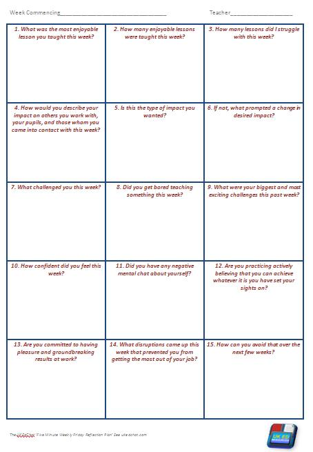 Resource: Reflection Questions for a Friday