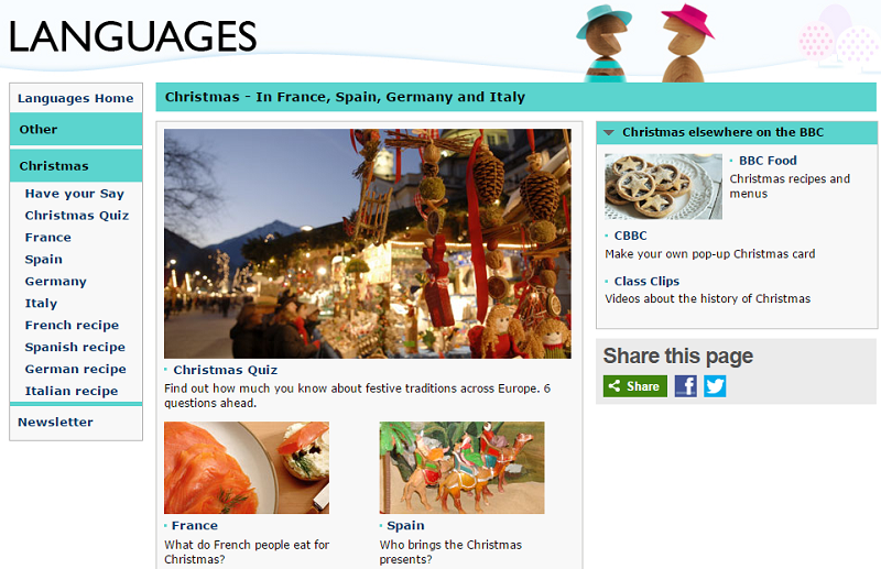 BBC Christmas Languages