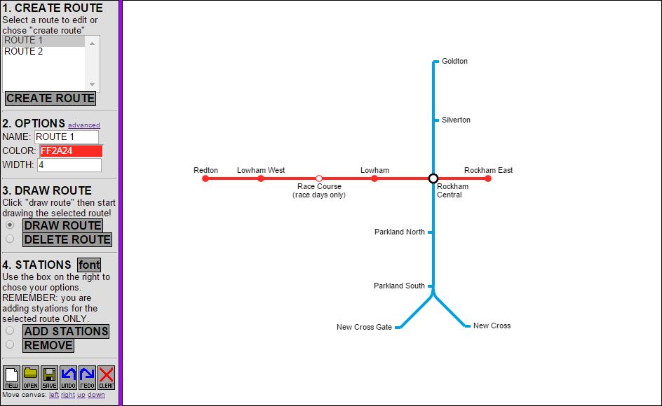Metro Map Creator