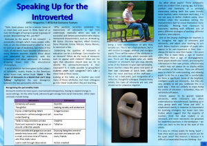 Speaking up for the Introverted, by UKEdChat