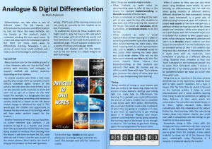 Analogue and Digital Differentiation by Mark Anderson