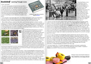 Learning through a Lens by Jane Hewitt. UKEdChat Book Review.
