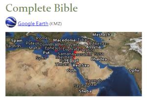 Click on image to visit Bible Geocoding