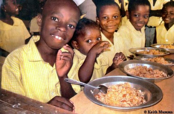Country: Haiti Contents: Brown rice and beans.