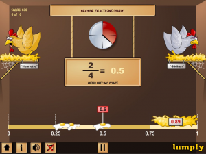 Screenshot from Estimating Fractions