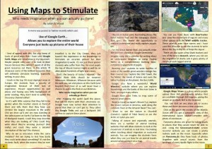 Using Maps to Stimulate, by Julian S. Wood. An exploration of how Google Maps can help pupils explore the world, helping spark their imaginations.