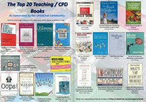 The Top 20 Teaching / CPD Books - As nominated by the UKEdChat Community.