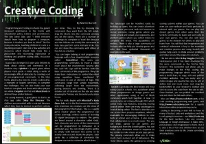 Creative Coding, by Martin Burrett. An exploration of some of the simple online tools which can support the coding curriculum.
