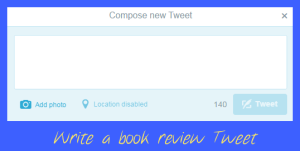 Get pupils to write a book review, in a tweet. Click here to download as PDF.