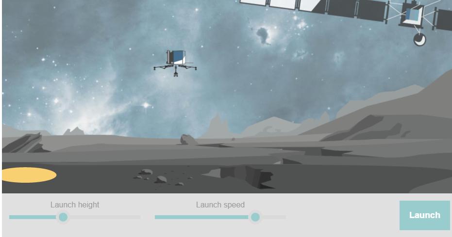 comet lander game