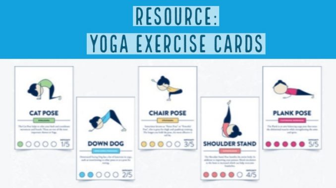 Resource: Yoga Exercise Cards by @PaperZip