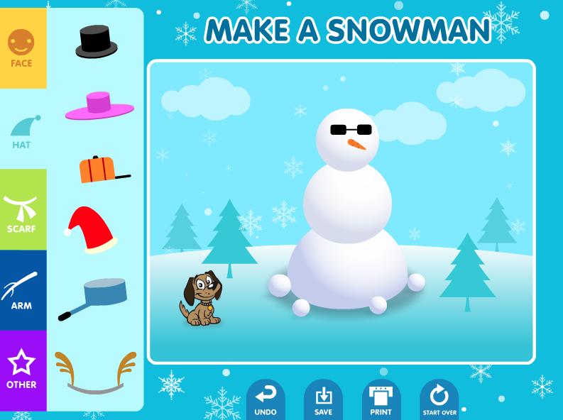 ABCya Snowman