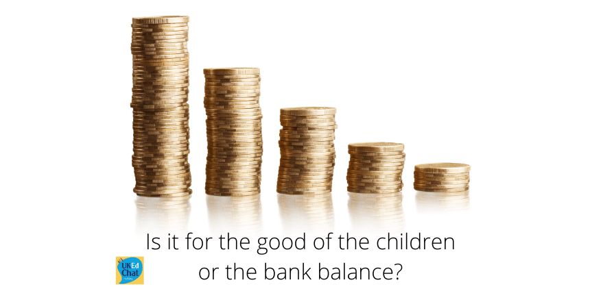 Is it for the good of the children or the bank balance? by @sheep2763