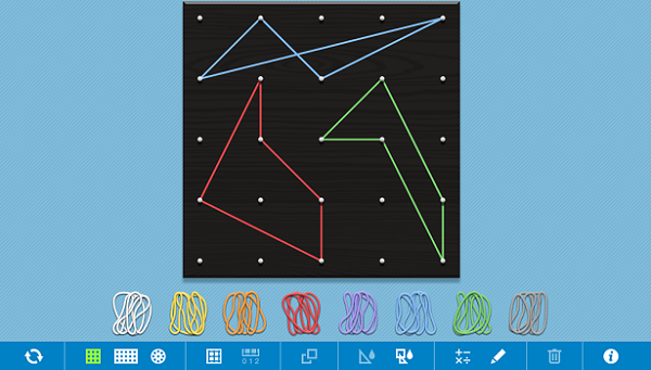 Math Learning Center Geoboard