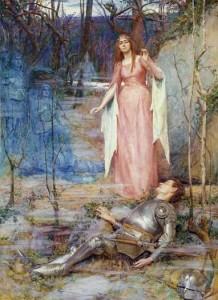 "Painting: ""La Belle Dame sans Merci"" by Henry Meynell Rheam, 1901"
