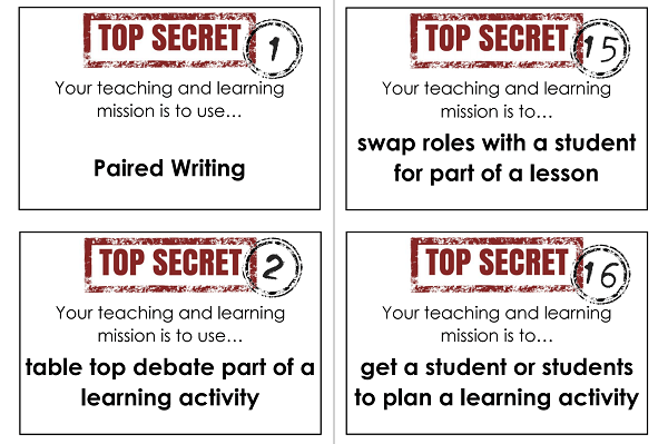 50 Teaching and Learning Mission Cards by @MrsHumanities – @UKEdResources – UKEdChat