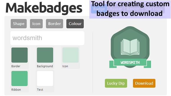 MakeBadges - @ICTmagic - UKEdChat.com