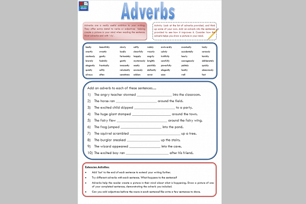 Adverbs – @UKEdResources – UKEdChat