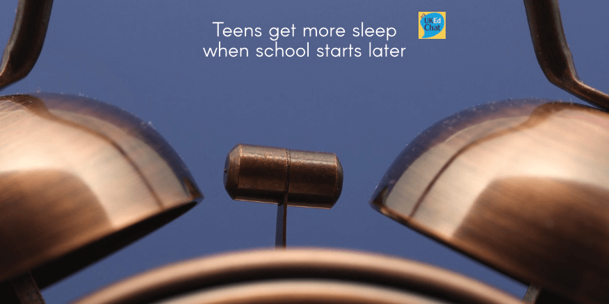 Teens get more sleep when school starts later – UKEdChat