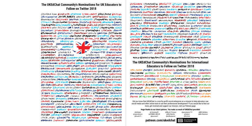Nominations for Educators to Follow on Twitter 2018 – UKEdChat