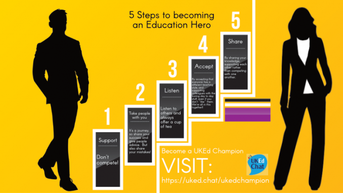 5 steps to becoming an education hero