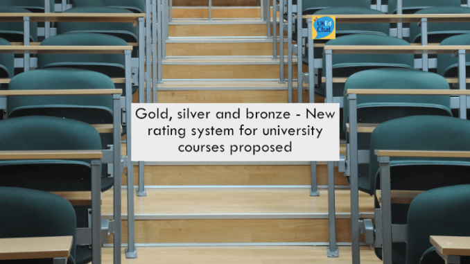 Gold, silver and bronze – A new rating system for university courses proposed