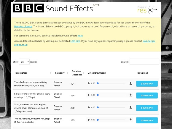 BBC Sound Effects – UKEdChat
