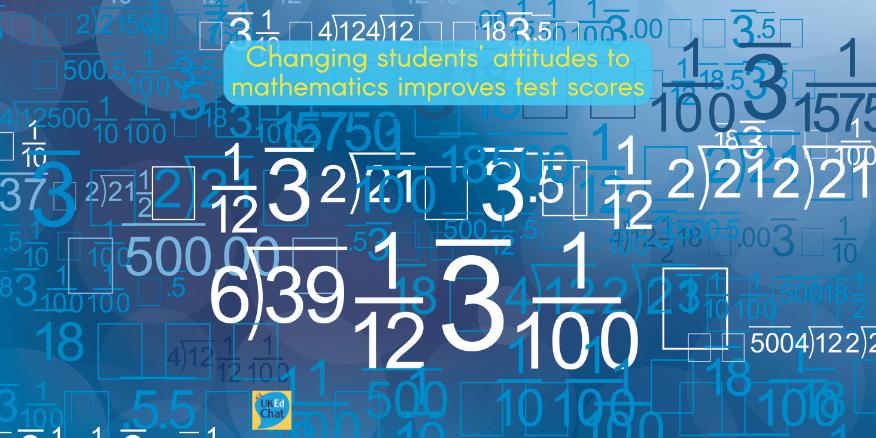 Changing students' attitudes to mathematics improves test scores – UKEdChat