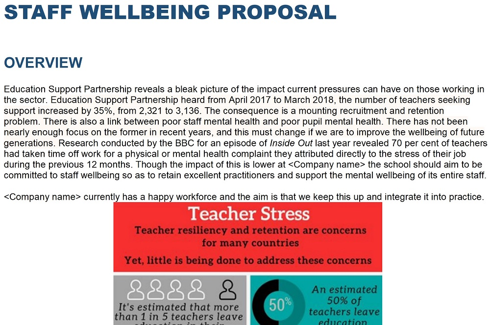 Well-being School Proposal, by @Mrs_Educate – @UKEdResources – UKEdChat