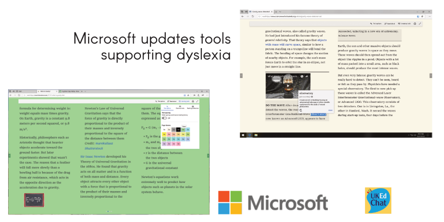 Microsoft updates tools supporting dyslexia – UKEdChat