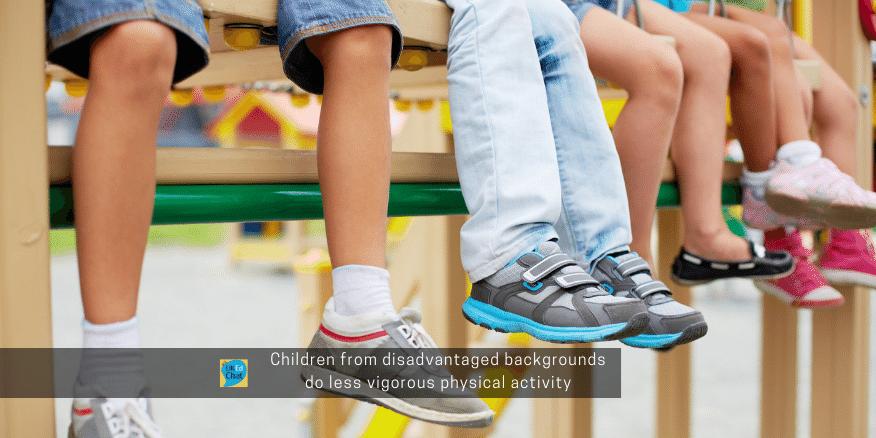 Children from disadvantaged backgrounds do less vigorous physical activity – UKEdChat