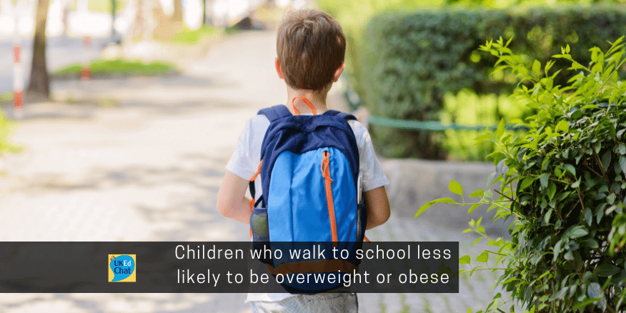 Children Who Walk To School Less Likely To Be Overweight Or Obese Study Suggests Ukedchat